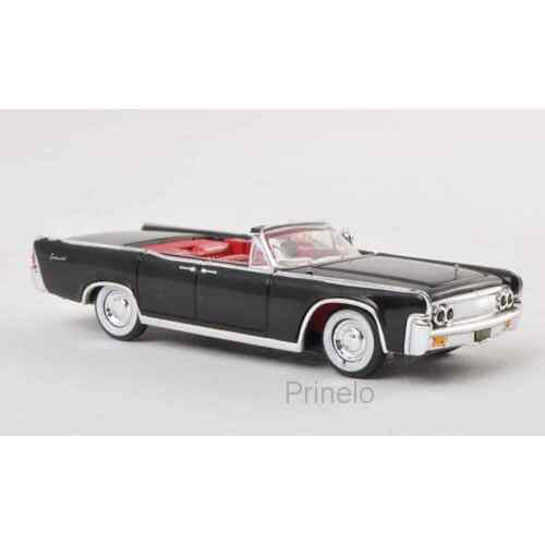 RICKO 38422 1/87 HO LINCOLN CONTINENTAL CONVERTIBLE NOIR 1963 VOITURE MINIATURE