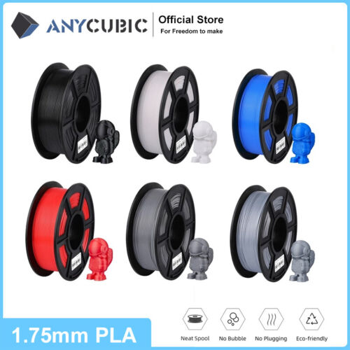 ANYCUBIC 1.75mm PLA Filament Mutil-Colored For FDM 3D Printer 1000g per Roll AU