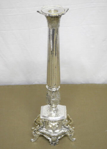 N°3124 STUPENDO CANDELABRO STILE IMPERO IN ARGENTO SHEFFIELD COLLECTION