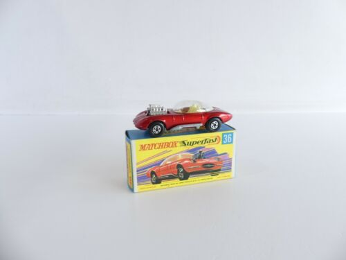 MATCHBOX / LESNEY N°36 VOITURE DRAGUAR SUPER FAST 1/64 eme