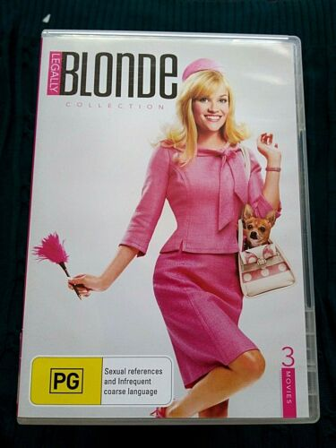 LEGALLY BLONDE COLLECTION - DVD, 3-DISC SET- R-4- LIKE NEW- FREE POST AUS-WIDE