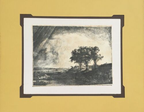 """""""The Three Trees"""" Rembrandt Etching"""