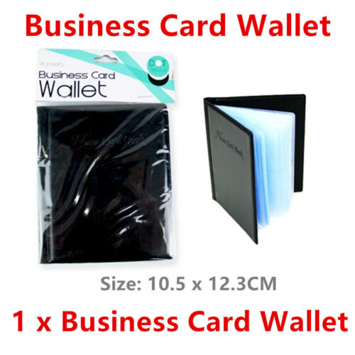 96 Slots Business Card Wallet Travel ID Credit Holder Purse Case Name Organiser