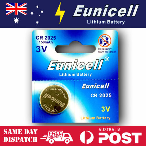1x EUNICELL CR2025 Batteries Button Cell  Battery 3V DL2025 Watch Toys