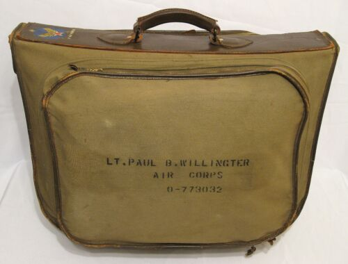 WW2 WWII U.S. Army Air Forces B-4 Officer's Suitcase Excellent Condition USAAFField Gear, Equipment - 4721