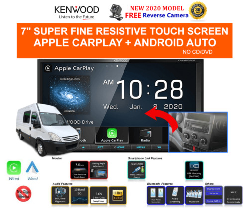 Kenwood DMX8020S for Iveco Daily 2007 to 2013 - Stereo Upgrade
