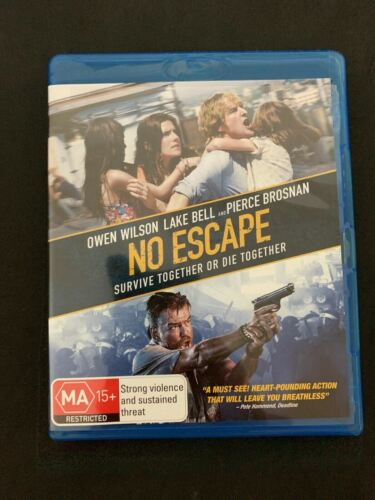 No Escape (Blu-ray, 2016) Pierce Brosnan, Owen Wilson