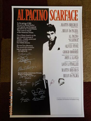 """Scarface (11"""" x 17"""")  Movie Collector's Poster Print ( signed by Cast ) - B2G1F"""