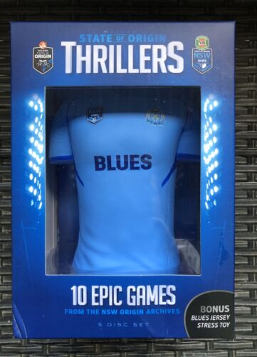 NRL State Of Origin - Thrillers - New South Wales Blues (DVD, 2015, 5-Disc Set)