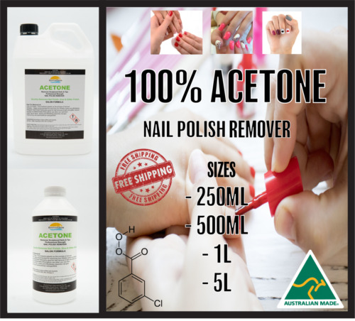 ACETONE 100% PURE,NAIL POLISH REMOVER, PAINT/GEL, SNS REMOVER, AUS STOCK