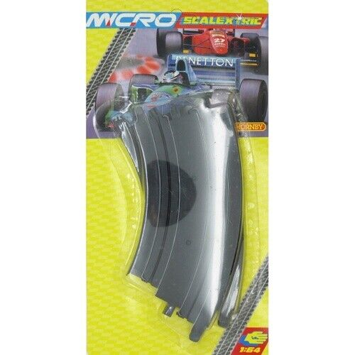 Micro SCALEXTRICTRIC Curve 153MM 45 Degree 2 Pcs - 70-G106