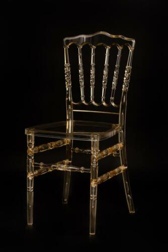 Gold Acrylic Napoleon Ghost Chair- bedroom| makeup| dinning| wedding| function