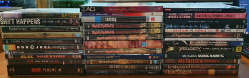 Music DVD's - Rock, Metalcore, Hardcore, Metal - REDUCED TO CLEAR - Free Post!
