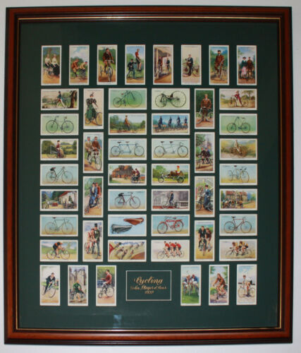 1939 Framed Cycling John Player and Sons Cigarettes Series of 50 cards