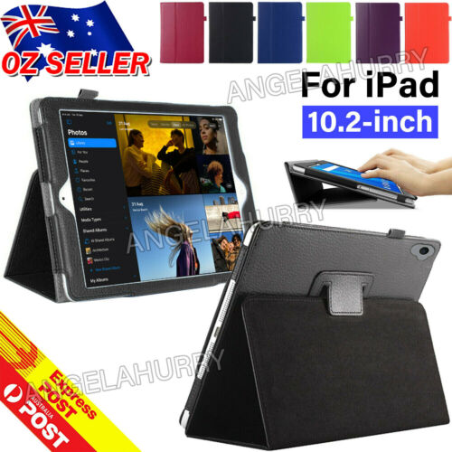"""New Apple iPad 7th Gen 10.2"""" Cover Smart Leather Stand Flip Case For iPad 7"""