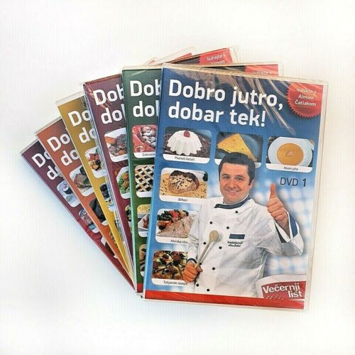 Croatian Chef – DVD Cookbook with printed cards (over 12hrs long) 6 DVDs Set