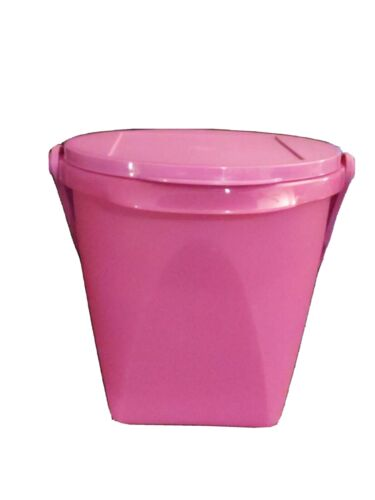Tupperware  5 QT Bucket Canister w/ Handle Wild Mulberry New