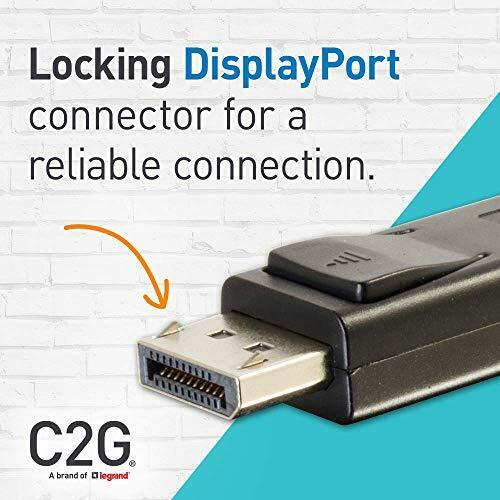 C2G 10M 8K DisplayPort Cable with Locking Latches 8K UHD Ultra High Definition D