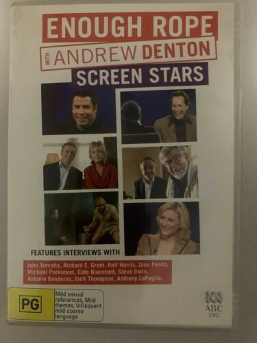 Enough Rope With Andrew Denton - Screen Stars (DVD, 2006) Region 4 🇦🇺