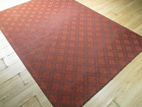 6x8 ABC Collection Designer Flat Weave Handmade Wool Transitional Rug 585359