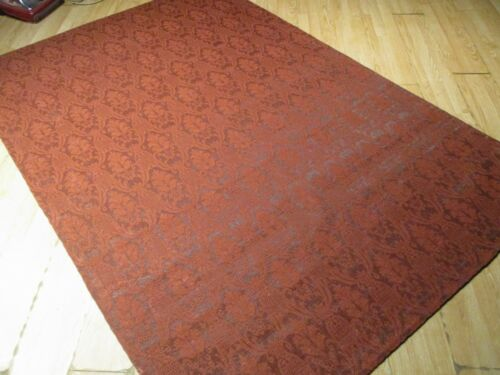 6x8 ABC Collection Designer Flat Weave Handmade Wool Transitional Rug 583347