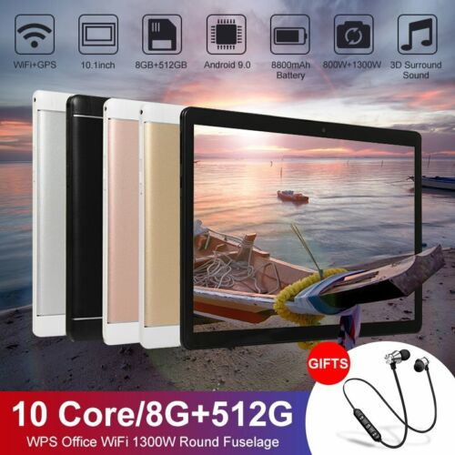 10.1 inch Bluetooth Tablet Android 9.0 8+512G Deca Core Dual Camera Wifi Phablet