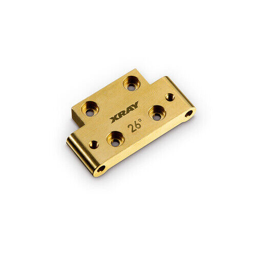 XRAY BRASS FRONT LOWER ARM MOUNT 26 DEGREE - XY322312