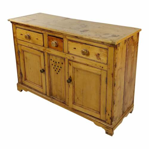 Vintage Country Farm Pine Cabinet Server