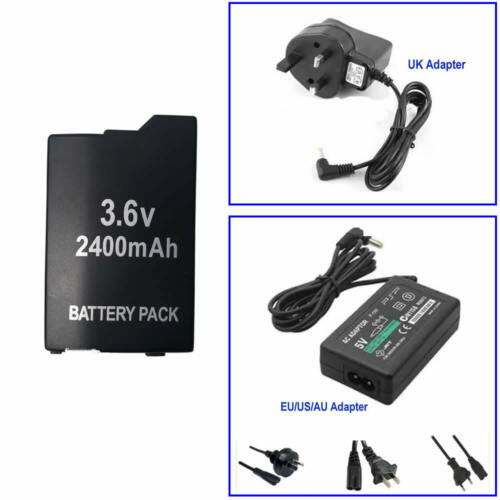 Battery Or AC Power Adapter Portable Wall Charger FOR Playstation PSP 2000 3000