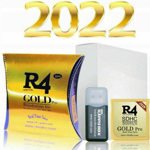 R4 Gold Pro SDHC for DS/3DS/2DS/ Revolution Cartridge With USB Adapter New FR