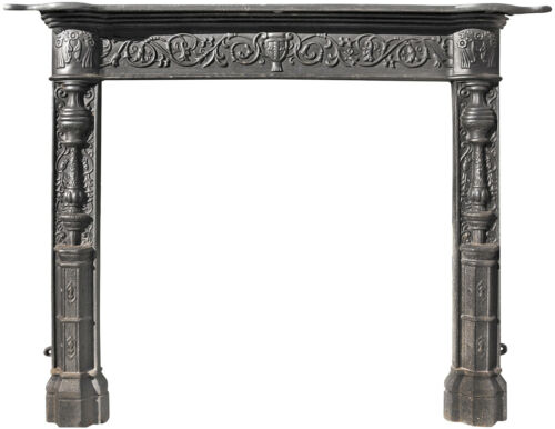 Camino in ghisa - Cast iron fireplace 7546