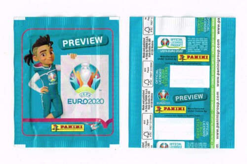 PANINI EURO 2020 PREVIEW   sealed NO BARCODE packet BLUE 568 stickers edition