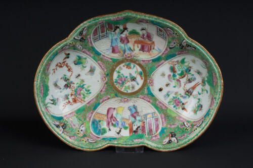 China 19. Jh Qing Bowl - A Chinese Canton Porcelain Dessert Dish - Chinois