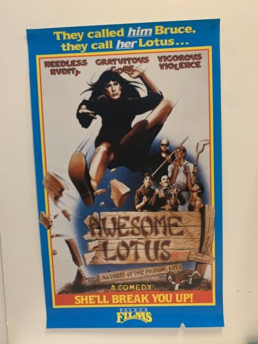 AWESOME LOTUS Australian Palace VHS VIDEO POSTER rare 80s Explosive Martial Arts