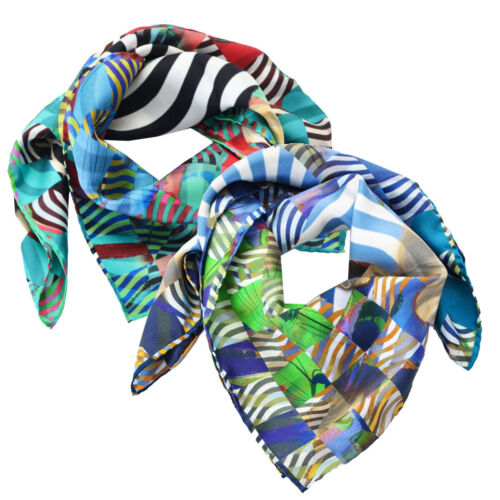Foulard Christian Lacroix 100% seta Made in Italy 70x70 cm donna J0455