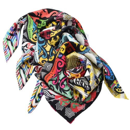 Foulard Christian Lacroix 100% seta Made in Italy 70x70 cm donna JP072