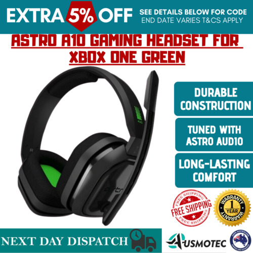 Astro Gaming A10 Wired Headset For Xbox One (Free Postage) Grey/Green