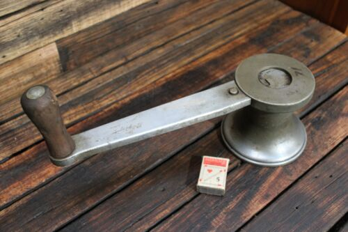 Vintage Antique Boat Winch South Coast Yacht Ship Nautical Brass