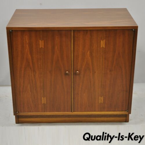 "Lane Acclaim Mid Century Modern Dovetail 2 Door 32"" Walnut Cabinet Chest"