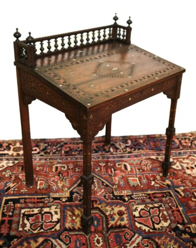 Syrian / Moroccan Arabesque Slant front desk 19th Century