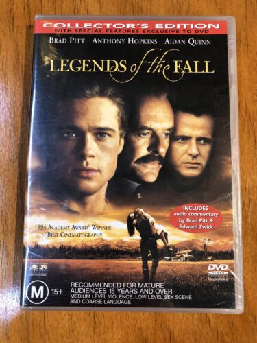 LEGENDS OF THE FALL (COLLECTORS EDITION) BRAD PITT - R4 DVD - New & SEALED