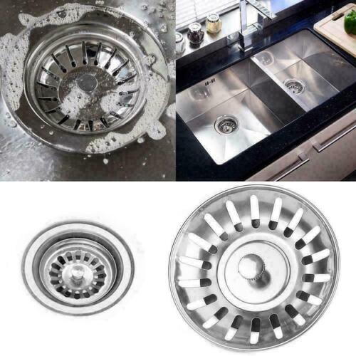 Stainless Steel Sink Strainer Waste Plug Double Floor Drain Stopper B0h9