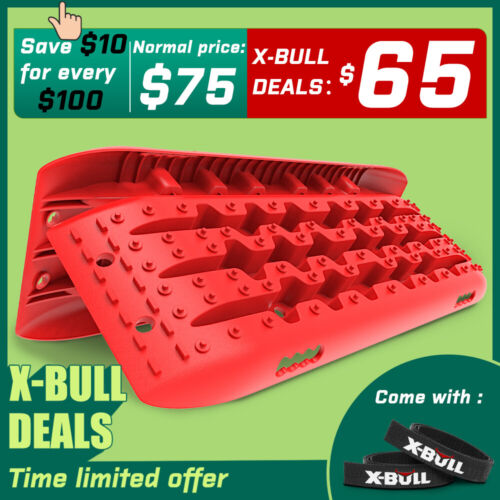 X-BULL Recovery Tracks trucks  Sand track Mud Snow 1 pair 2 PCS 4WD 91cm Gen 2.0 <br/> Enjoy the Christmas price in advance!Don't Miss it!