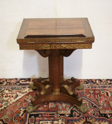 Continental Pedestal Writing Table adjustable easel back early 20th c.