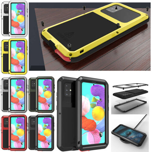 For Samsung Galaxy A51 A71 S20 Note 10 Lite Heavy Duty Aluminum Metal Case Cover