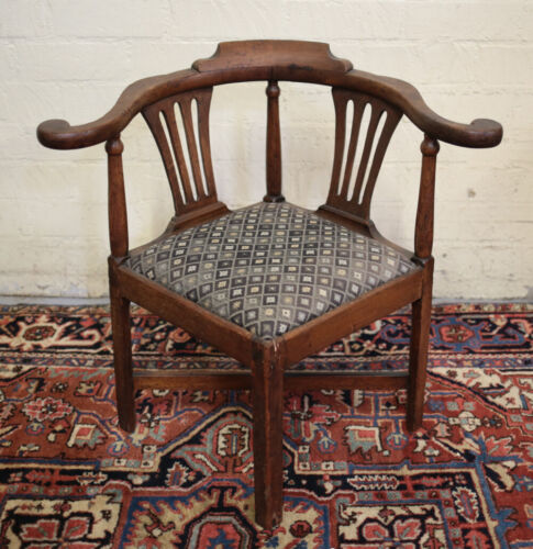 19th century Continental Chippendale style upholstered Corner Chair