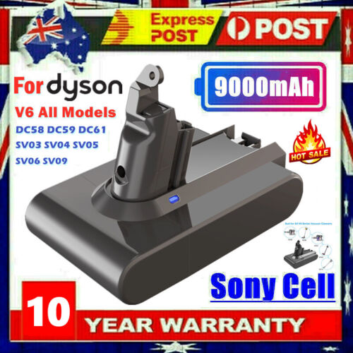 8800mAh Sony Battery For Dyson V6 DC58 DC59 DC61 DC62 SV03 Absolute Vac Cleaner