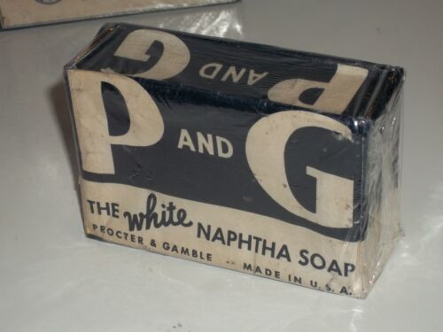 P and G WHITE NAPHTHA SOAP MINT Vintage OLD STOCK 1930s Procter & Gamble LAUNDRY