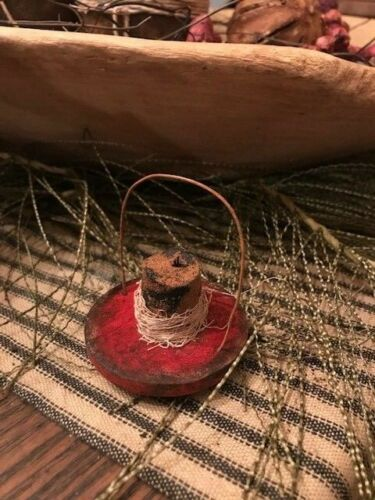 Primitive Lantern Ornaments Early Look Candle Light Feather Tree Ornaments RED