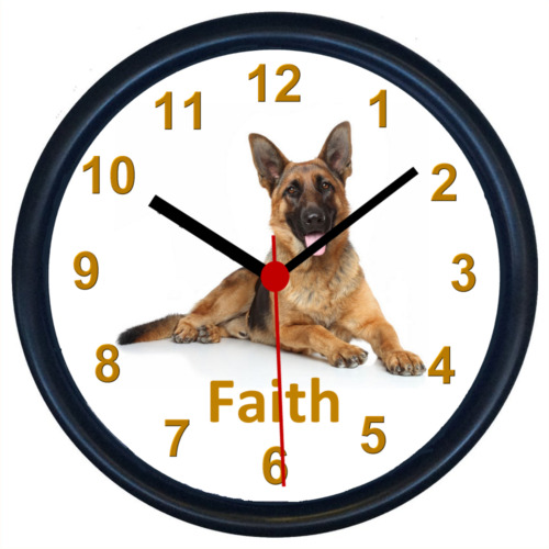Personalised GERMAN SHEPHERD Wall Clock